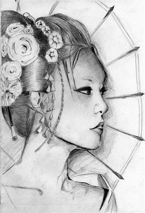 geisha pencil drawing google search geisha s pinterest