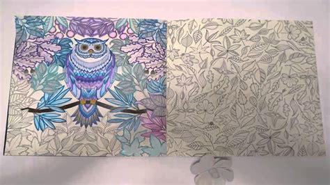 secret garden coloring book finished secret garden coloring book owl finished result
