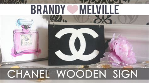 brandy melville home decor diy room decor brandy melville inspired chanel wooden