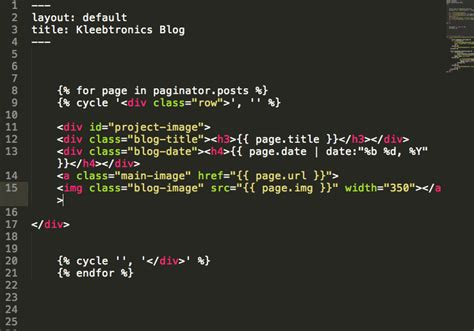 jekyll layout for blog kleebtronics