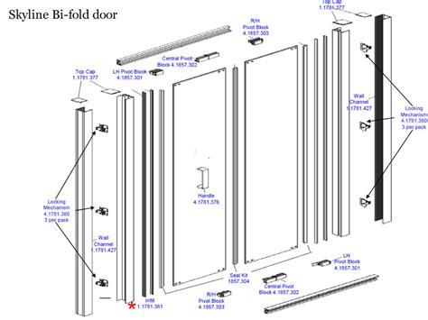 Daryl Skyline Bi Fold Door Shower Spares And Parts Bi Fold Shower Door Spares