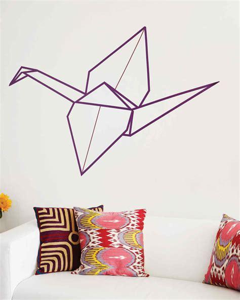 Washi Origami - washi origami crane wall martha stewart