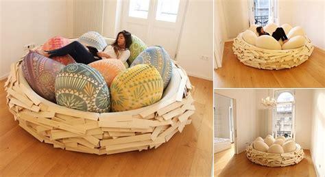 birds nest bed sleep at the giant bird nest icreatived