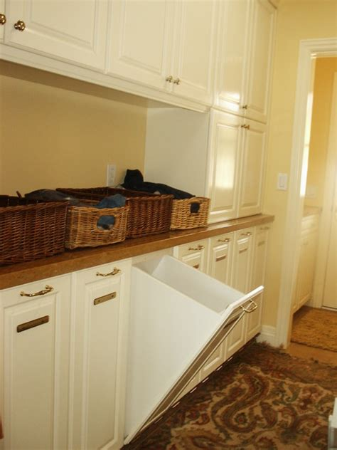 Laundry Room With Pullout Her Traditional Laundry Pull Out Laundry