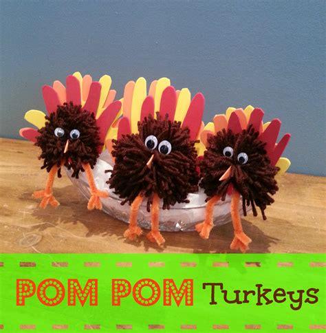 thanksgiving centerpiece crafts for thanksgiving craft pom pom turkey centerpiece