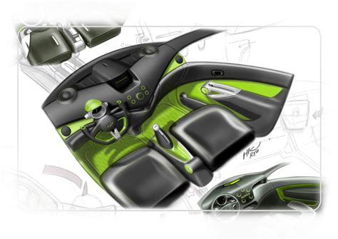 chevrolet spark interior design sketch car body design