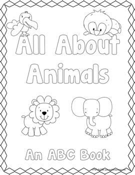 Abc Book Template All About Animals Template Students And School Make Your Own Alphabet Book Template