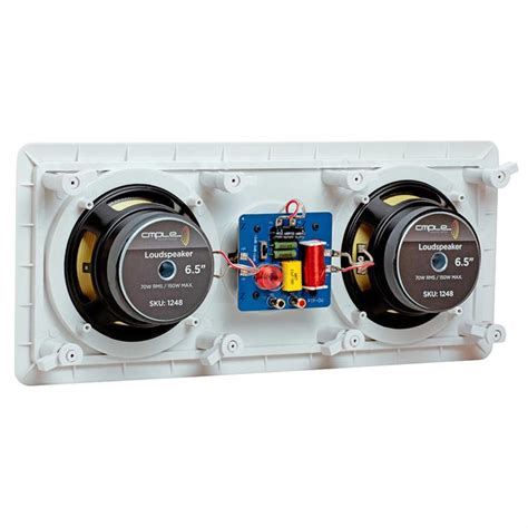 Wall Speaker Toa 6 Watt 5 1 in wall in celing speaker system kevlar speakers power peak 1380 watts