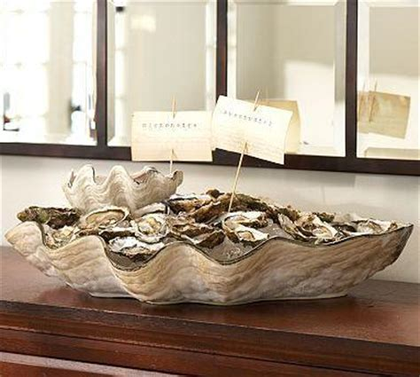 oversized oyster shell serving bowl pottery barn