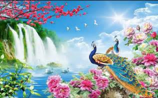 landscape wallpaper murals related keywords amp suggestions hd peacock wall murals
