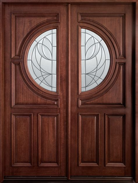 Wood Entry Doors With Glass Entry Door In Stock Solid Wood With Mahogany Finish Classic Series Model Db 785 Dd