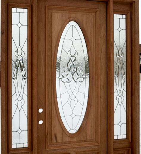 front door with side lights wooden entry door with oval glass plus side light with