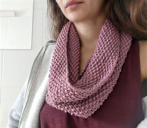 knit cowl pattern beginner knitting patterns galore beginner basic seed cowl