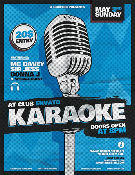 free templates for karaoke flyers karaoke flyer template on behance