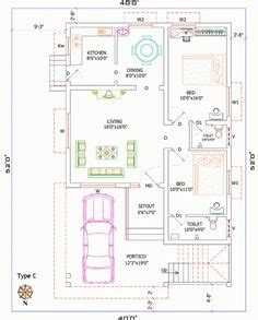 square into gaj house plan for 32 feet by 40 feet plot plot size 142
