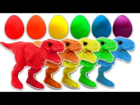 Doh Colors Dinosaurs 1 learn colors with dinosaurs play doh eggs for