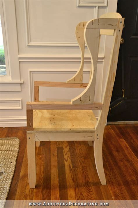 Diy Wingback Dining Chair How To Build The Chair Frame How To Build Dining Room Chairs