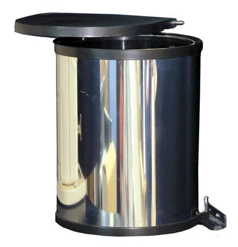 Door Mounted Trash Can With Lid by Hinged Bin Door Mounted Stainless Steel Integrated Bins Clean Kitchen Parmco Sales