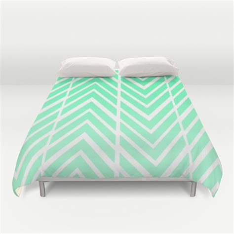 Green And White Duvet Cover Mint Green Arrows Bed Spread Duvet Cover Mint Green And