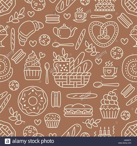 cake background pattern vector bakery seamless pattern food vector background of brown