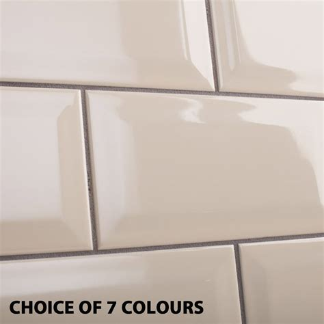 Backsplash Ceramic Tiles For Kitchen by 5m2 200x100mm Metro Bevel Wall Tile Bundle Inc Adhesive