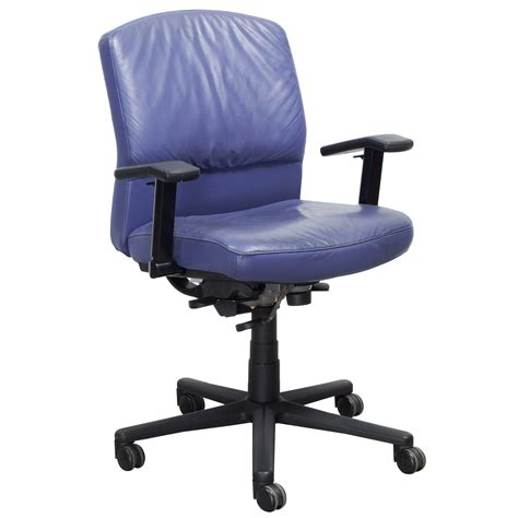 O Chair - steelcase vecta 4 o clock series used leather task chair