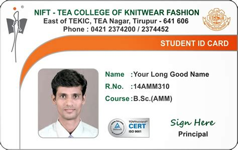 College Id Cards Templates by Template Galleries New Student And Staff Id Card Template