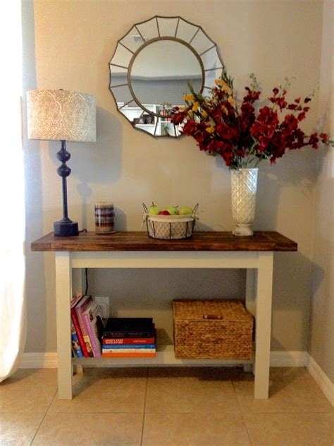 pottery table ls building the hyde pottery barn console table overthrow