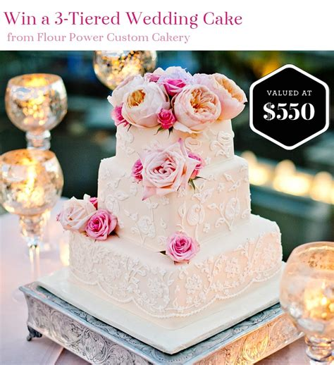 Win Wedding Money 2016 - enter to win a wedding cake from flour power custom cakery