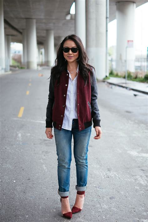 Jacket New York Jaket Ootd how to look stylish in a varsity jacket stylecaster