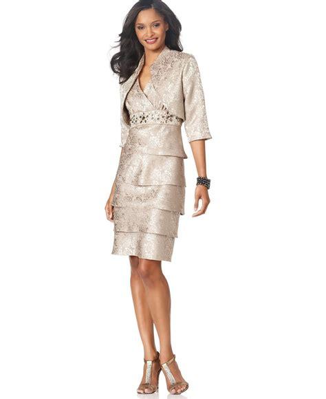 r m richards dresses r m richards tiered embellished dress and jacket