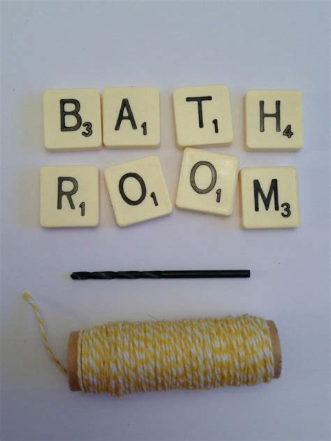 things to make with scrabble tiles things to do with scrabble tiles scrabble bathroom sign