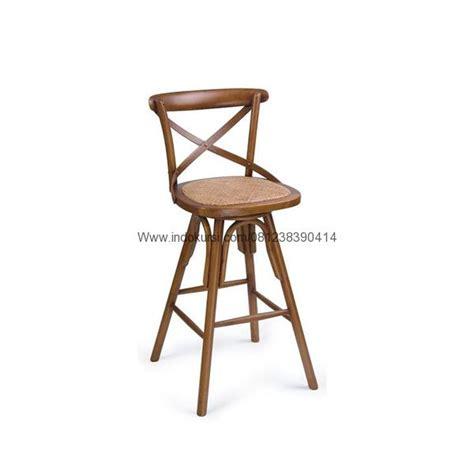 Kursi Bar Kayu Kombinasi Besi kursi bar kayu jati silang model putar indo kursi mebel indo kursi mebel