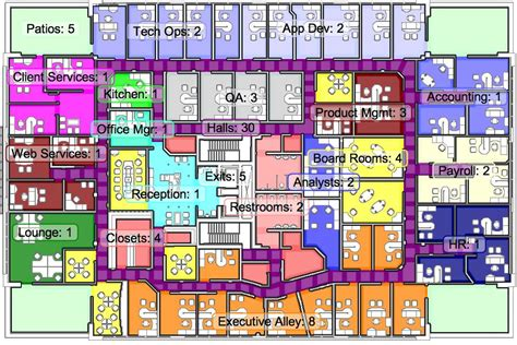the office map