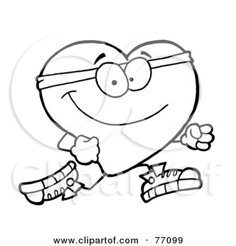 coloring pages heart health royalty free rf healthy heart clipart illustrations
