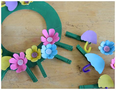 april crafts for recycled craft april showers bring may flowers clothespin