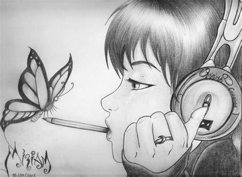 imagenes anime lapiz imagenes de dibujos de chicas hechos a lapiz