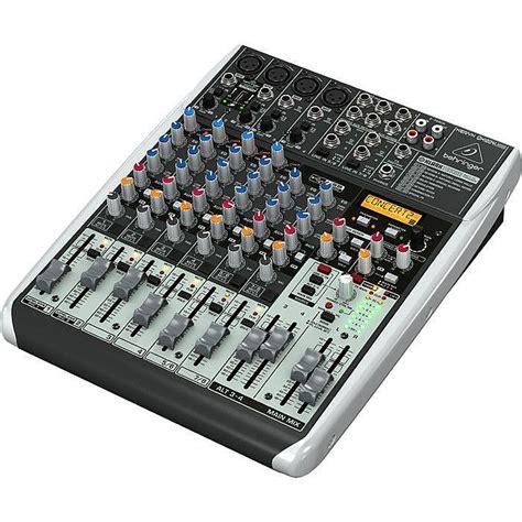 behringer qx1204 usb xenyx 12 input mixer with klark teknik multi fx processor ebay