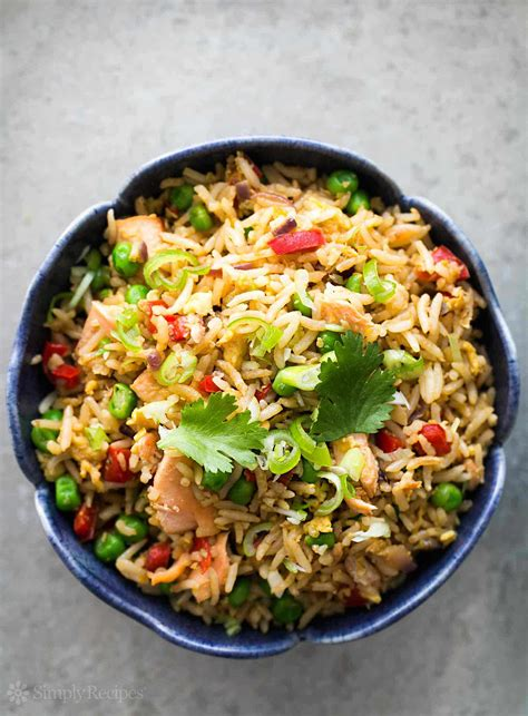 salmon fried rice recipe simplyrecipes com