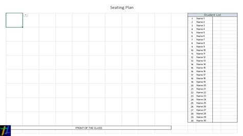 Seating Chart Template Tryprodermagenix Org Seating Chart Template Excel