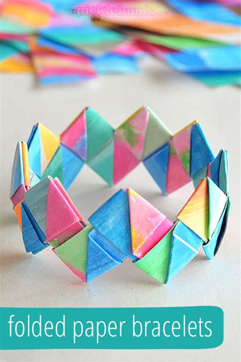 How To Make Paper Bracelets - cool crafts for