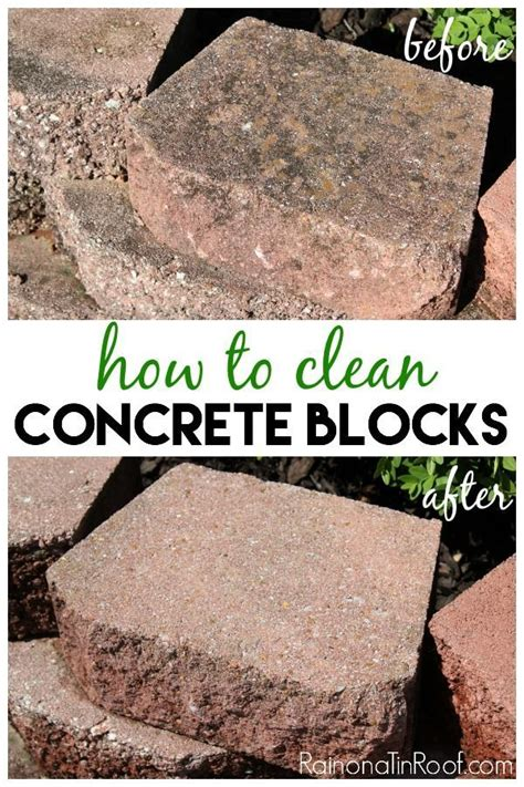how to clean concrete blocks l wren concrete