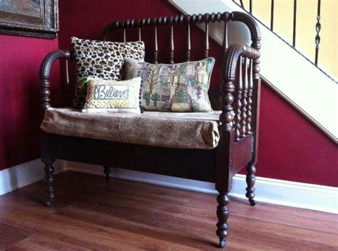 antique bed bench antique spool bed bench upcycling making benches chair