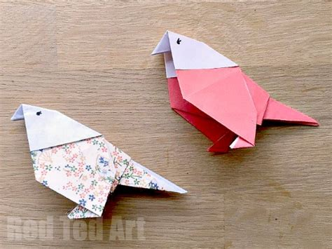 Learn How To Make Origami - how to make an origami budgie ted s