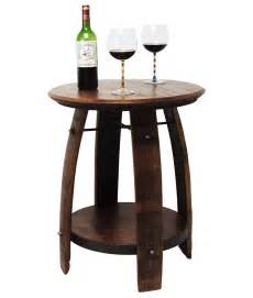 Barrel Side Table Recycled Wine Barrel Side Table Recycled Wine Barrel Side Table Is Handmade From Reclaimed