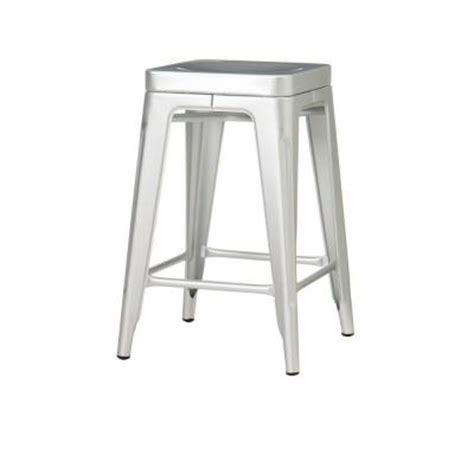 Aluminum Stools by Home Decorators Collection Garden 24 In H Brushed