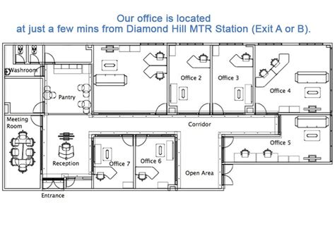 floor plan company space rental