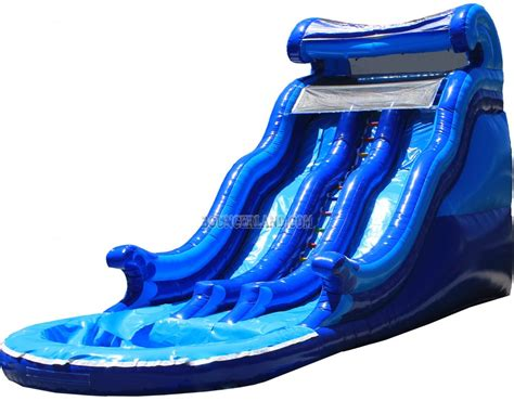 water slide bounce house bouncerland commercial inflatable water slide 2074