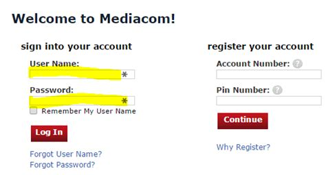 www mediacomcable login mediacom account login