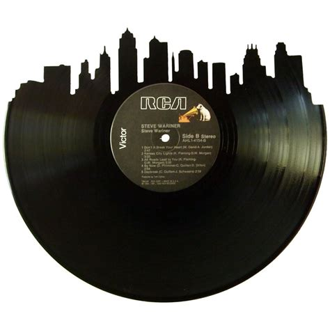 Kansas City Records Kansas City Skyline Vinyl Record Records Redone